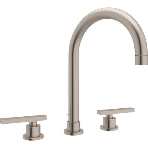 Rohl A2228LMSTN-2 Modern Two Handle Widespread Bathroom Sink Faucet, Satin Nickel
