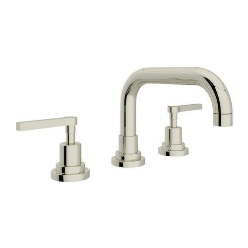 Rohl A2218LMPN-2 Lombardia Two Handle Widespread Bathroom Sink Faucet, Polished Nickel