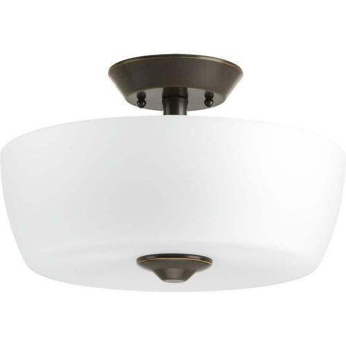 Progress Lighting P350060-020 Leap 100W 2-Light Medium E-26 Ceiling Light, Antique Bronze