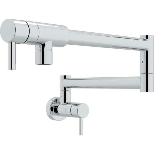 Rohl QL66L-APC-2 Modern Two Handle Lever Handle Pot Filler, Polished Chrome