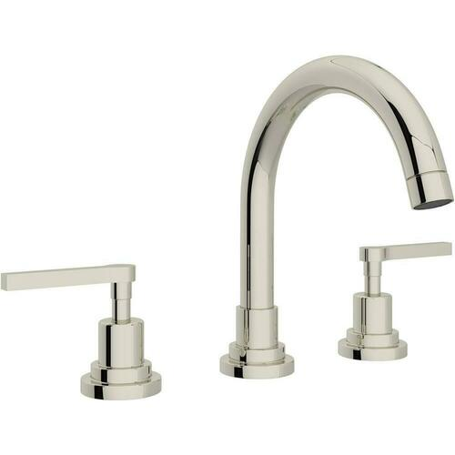 Rohl A2228LMPN-2 Modern Two Handle Widespread Bathroom Sink Faucet, Polished Nickel