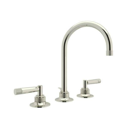 Rohl MB2019LMPN-2 Michael Berman Graceline Two Handle Widespread Bathroom Sink Faucet, Polished Nickel