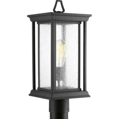 Progress Lighting P5400-31 Endicott 100W 1-Light Medium E-26 Incandescent Post Mount Lantern, Black