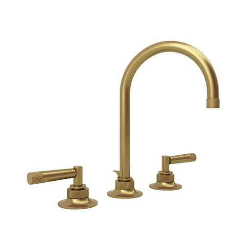 Rohl MB2019LMFB-2 Michael Berman Graceline Two Handle Widespread Bathroom Sink Faucet, French Brass