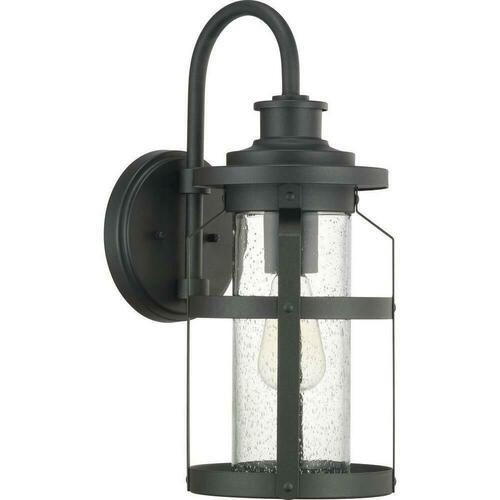 Progress Lighting PP560095031 Haslett 100W 1-Light Medium E-26 Incandescent Outdoor Wall Sconce, Black
