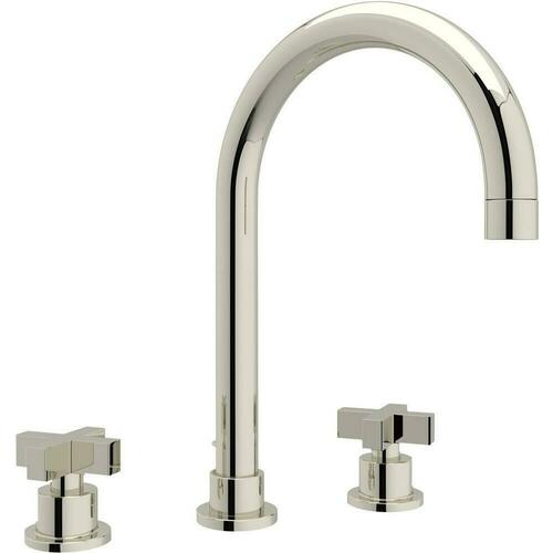 Rohl A2228XMPN-2 Modern Two Handle Widespread Bathroom Sink Faucet, Polished Nickel