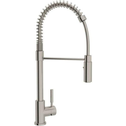 Rohl R7521SS Lux Single Handle Pull Down Kitchen Faucet, Stainless Steel
