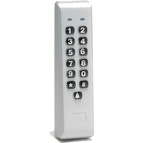 IEI 212ILM-AL Indoor / Outdoor Mullion Mounted Weather Resistant Keypad with 120 Users Aluminum Finish