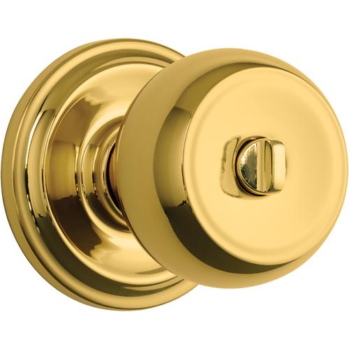 Brinks 23021-105 Stafford Privacy Push Pull Rotate Lockset Polished Brass Finish