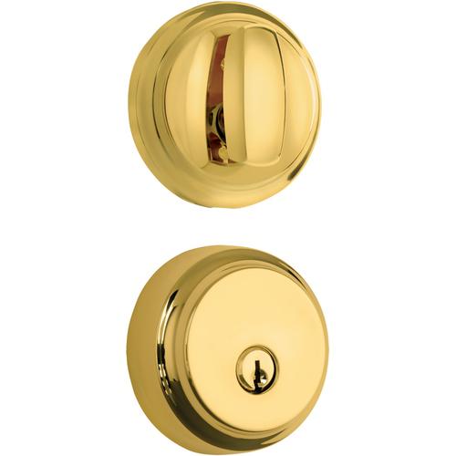 Brinks 23061-105 Almarrion Single Cylinder Deadbolt with Kwikset Keyway Polished Brass Finish