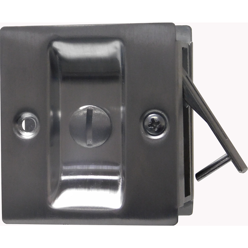 Trimco 1065626 Privacy Pocket Door Lock Square Cutout for 1-3/8