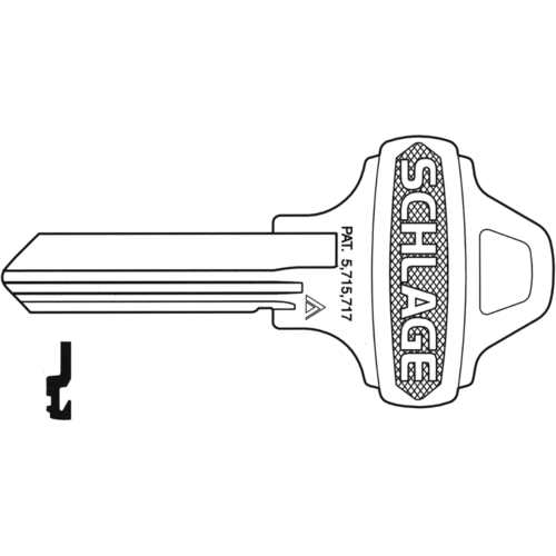 Schlage 35-009C123 Lock Key Blank