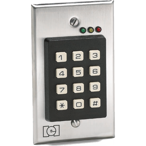 IEI 212I Single Gang Flush Mount Indoor Keypad with 120 Users Satin Stainless Steel Finish
