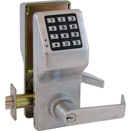 Alarm Lock DL2700WP/26D Weather Resistant Trilogy Electronic Digital Lever Lock Satin Chrome Finish