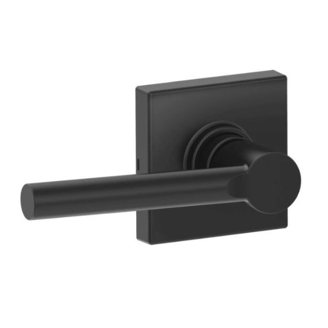 Dexter J10brw622col Broadway Lever With Collins Rose Passage Lock With Adjustable Latch And Radius Strike Matte Black Finish Ucbuilders Com
