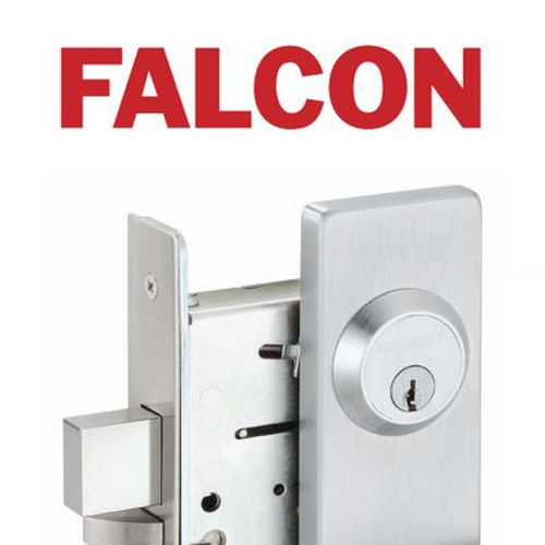 Falcon Lock 510L32D Dane Lever Exit Device Trim with Key Locks or Unlocks Satin Stainless Steel Finish