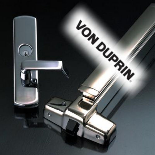 Von Duprin 9975LF226D3LHR Left Hand Reverse 3' Mortise Grooved Case Fire Rated Double Cylinder Exit Device with 06 Lever Trim Satin Chrome Finish
