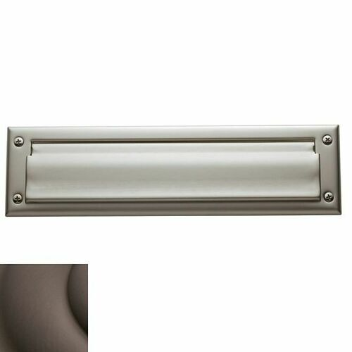 Baldwin 0012112 Letter Box Plate Venetian Bronze Finish