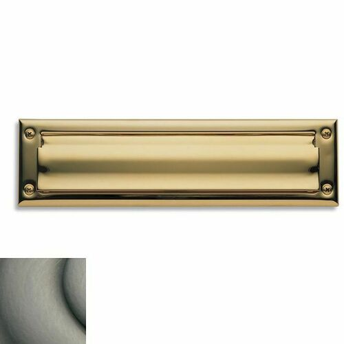 Baldwin 0014151 Letter Box Plate Antique Nickel Finish