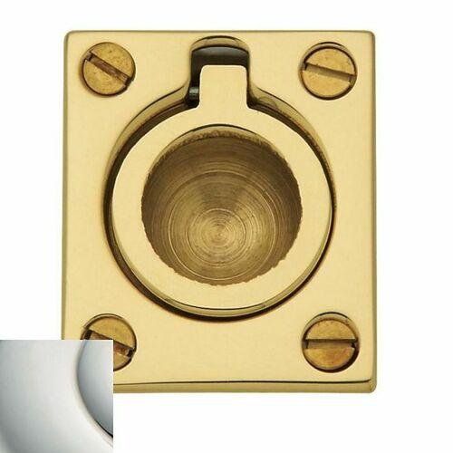 Baldwin 0392140 Flush Ring Pull Bright Nickel Finish