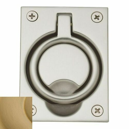 Baldwin 0395033 Flush Ring Pull Vintage Brass Finish