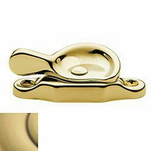 Baldwin 0452060 Sash Lock Satin Brass With Brown Finish