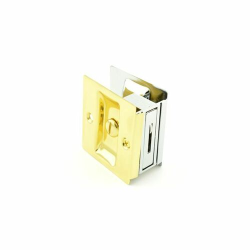 Trimco 1065605625 Privacy Pocket Door Lock Square Cutout for 1-3/8