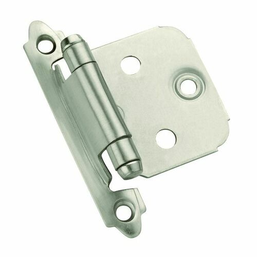 Amerock 1887612 Pack of 10 Self Closing Face Mount Variable Overlay Hinge Satin Nickel Finish