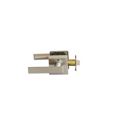 MaxGrade 201ABE15 Aberdine Privacy Push Button Lock Satin Nickel Finish with Adjustable Latch and Radius Strike