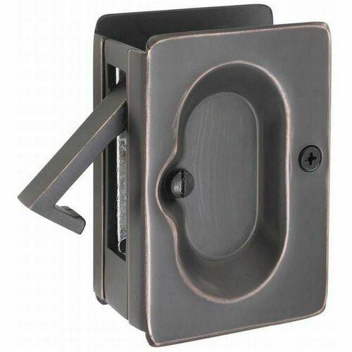Emtek 2101US10B Pass Pocket Door Lock, Oil Rubbed Bronze Finish