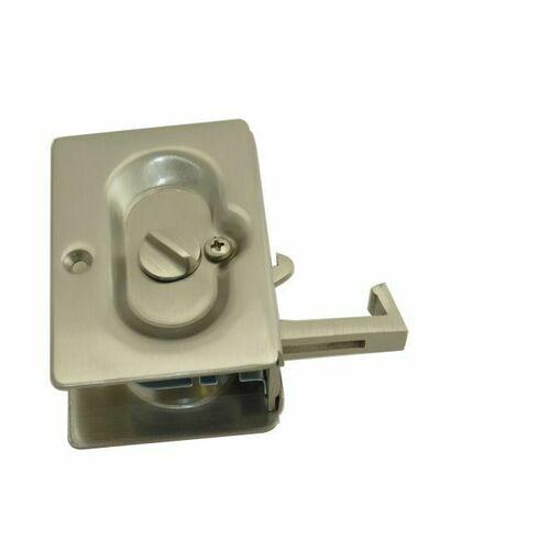 Emtek 2102US15 Priv Pocket Door Lock, Satin Nickel Finish
