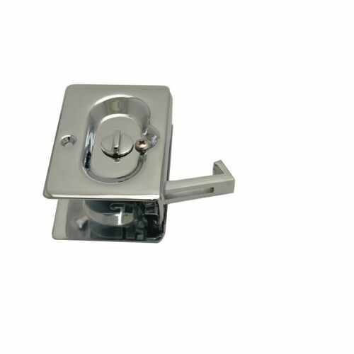 Emtek 2102US26 Priv Pocket Door Lock, Bright Chrome Finish