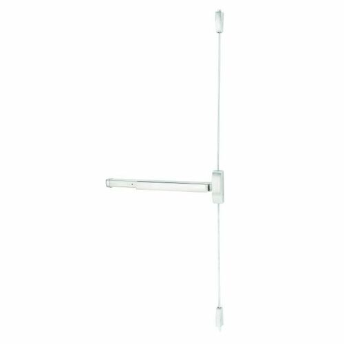 Stanley 22086303 3' Apex Surface Vertical Rod Wide Style Exit Device for Keyed Lever Satin Stainless Steel Finish