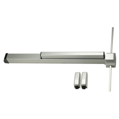 Von Duprin 2227EOF283 3' Fire Rated Surface Vertical Rod Exit Device, Lacquer Sprayed Aluminum Finish