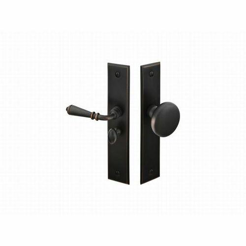 Emtek 2291US10BRH Right Hand Rectangular Style Screen Door Lock, Oil Rubbed Bronze Finish