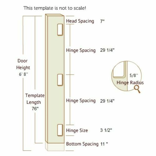 Templaco 35368 6 Foot 8 Inch Full Length Template for Three 1/4