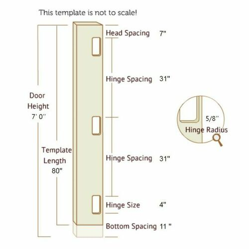 Templaco 40370 7 Foot Full Length Template for Three 1/4