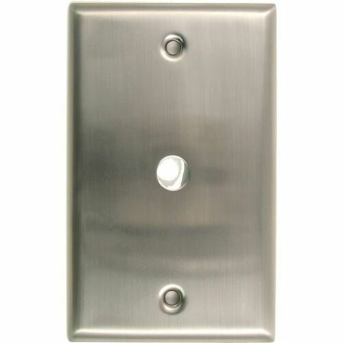 Rusticware 781SN Single Cable Switch Plate Satin Nickel Finish