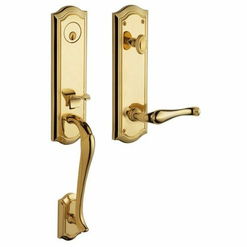 Baldwin 85337003LFD Bethpage Emergency Egress Tubular Left Hand Full Dummy Handleset Lifetime Brass Finish