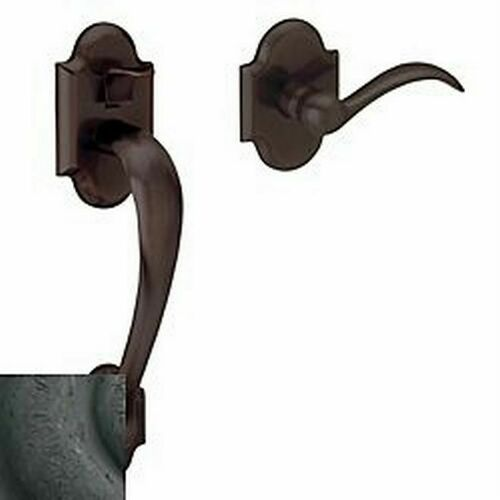 Baldwin 85353402ACLH Boulder Left Hand Sectional Handleset Less Deadbolt Distressed Oil Rubbed Bronze Finish