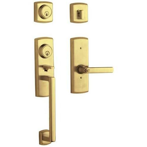 Baldwin 853850032RH Soho Two Point Right Hand Single Cylinder Tubular Handleset Lifetime Brass Finish