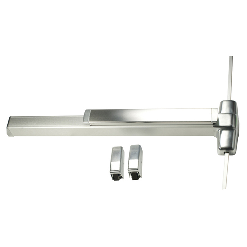 Von Duprin 9827EOF26D3 3' Fire Rated Surface Vertical Rod Smooth Case Exit Device, Satin Chrome Finish