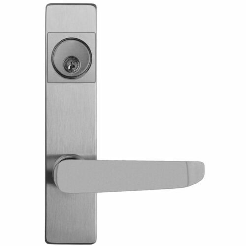 Detex 9BN689S Lever Trim Active by Key Standard Lever with Narrow Escutcheon Lacquer Sprayed Aluminum Finish