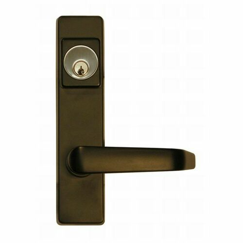 Detex 9BN693S Lever Trim Active by Key Standard Lever with Narrow Escutcheon Stainless Steel Finish
