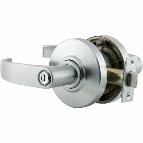Schlage AL40NEP626 AL Series Privacy Neptune Lock with 11116 Latch 10025 Strike Satin Chrome Finish