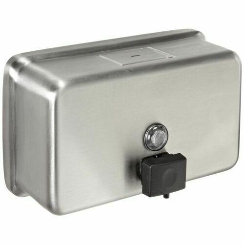 Bobrick B2112 40 Ounce Tank Surface Mounted Soap Dispenser Satin Stainless Steel Finish