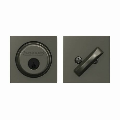 Schlage B60COL530 Collins Single Cylinder Deadbolt C Keyway with 12287 Latch and 10116 Strike Black Stainless Finish