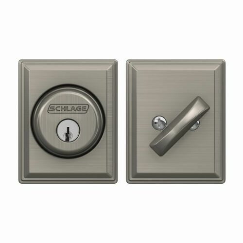 Schlage B60GDV619 Grandville Single Cylinder Deadbolt C Keyway with 12287 Latch and 10116 Strike Satin Nickel Finish