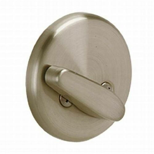 Schlage B81619613 One Sided Deadbolt with 12287 Latch and 10116 Strike with Plate Satin Nickel by Oil Rubbed Bronze Finish