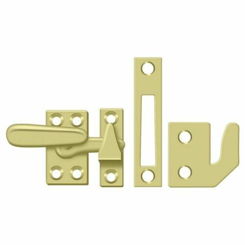 Deltana CF066U3 Window Lock, Casement Fastener, Small, Polished Brass